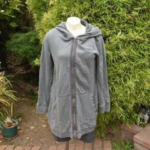 WE THE FREE COTTON TERRY JACKET SIZE LARGE GRAY